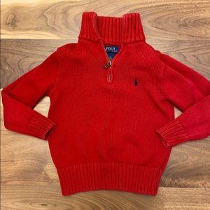 EUC RL polo pony 1/4 zip sweater
